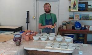 Post University Graduate, studio potter